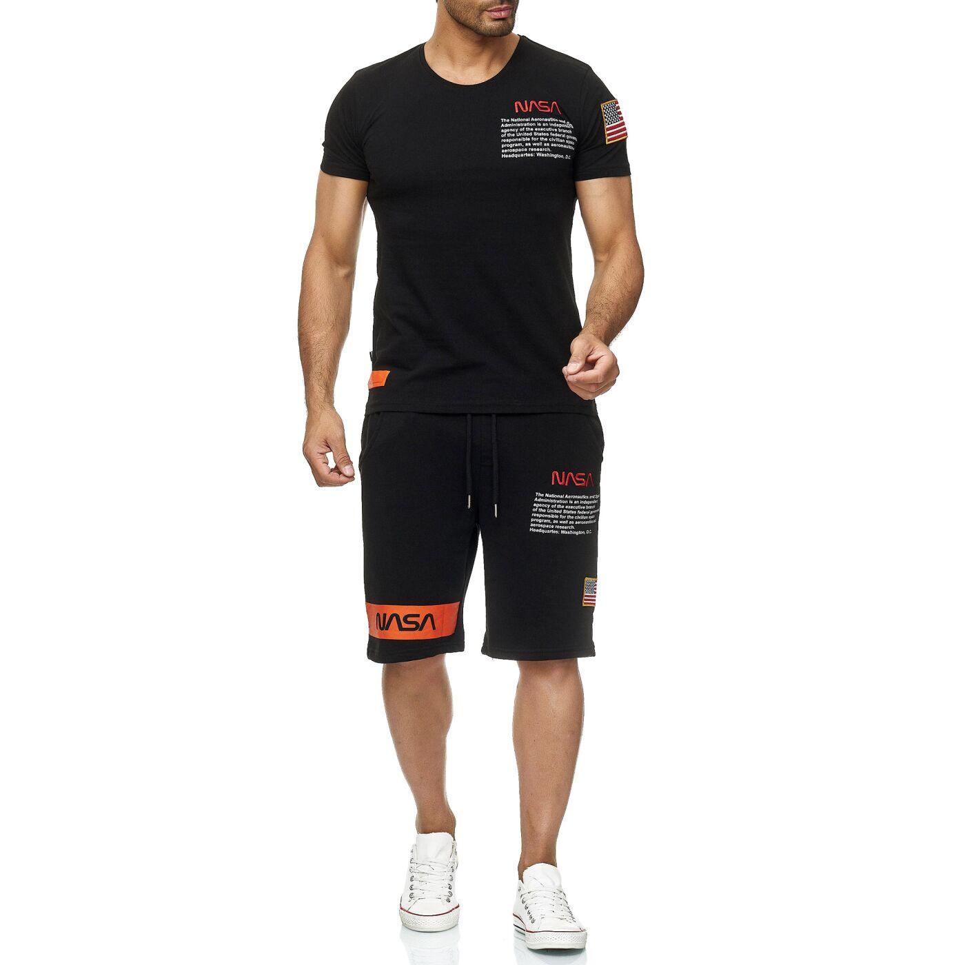 398385d9e83608 Red Bridge Herren T-Shirt und Shorts Jogginganzug Kurze Hose Set Sweat  Pants NASA Logo