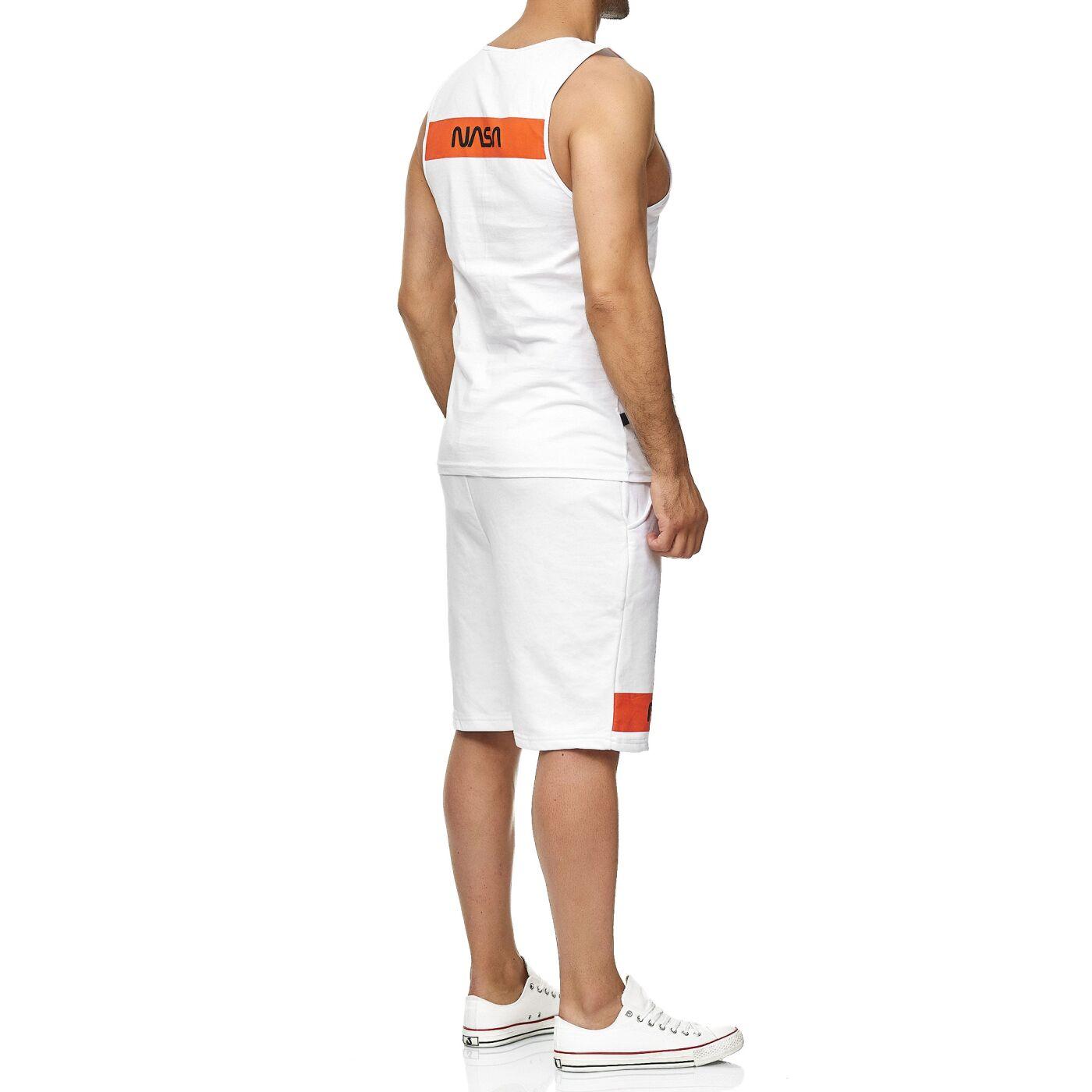 304949ee1c3176 Red Bridge Herren Tank Top und Shorts Jogginganzug Kurze Hose Set NASA Logo