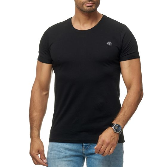 Red Bridge Herren T-Shirt Basic Kurzarm Shirt Umgekrempelt