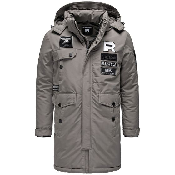 Red Bridge Herren Parka Jacke Mantel Winterjacke RB Patches