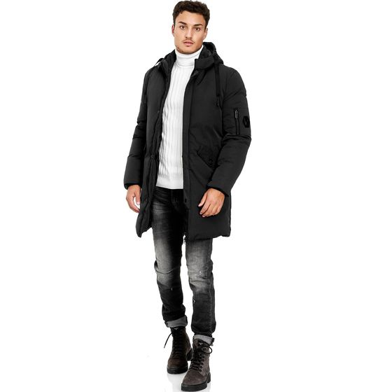 Red Bridge Herren Parka Jacke Mantel Winterjacke Long Basic