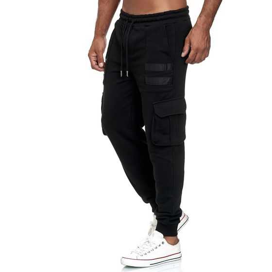 Red Bridge Herren Cargo Jogginghose Jogger Hose Sweat-Pants Double Zip