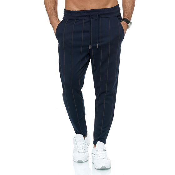 Red Bridge Herren Jogginghose Jogger Hose Sweat-Pants Striped