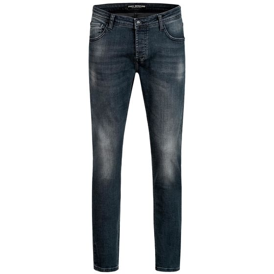 Red Bridge Mens Jeans Trousers Slim Fit Distressed Faded Shiny