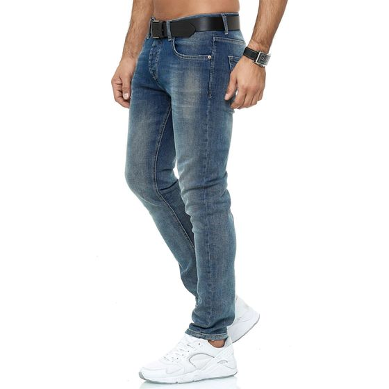 Red Bridge Mens Jeans Pants Slim-Fit Denim Stonewashed...