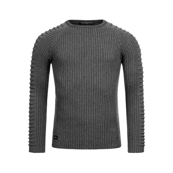 Red Bridge Mens Knit Sweater Big Ribbed Arms