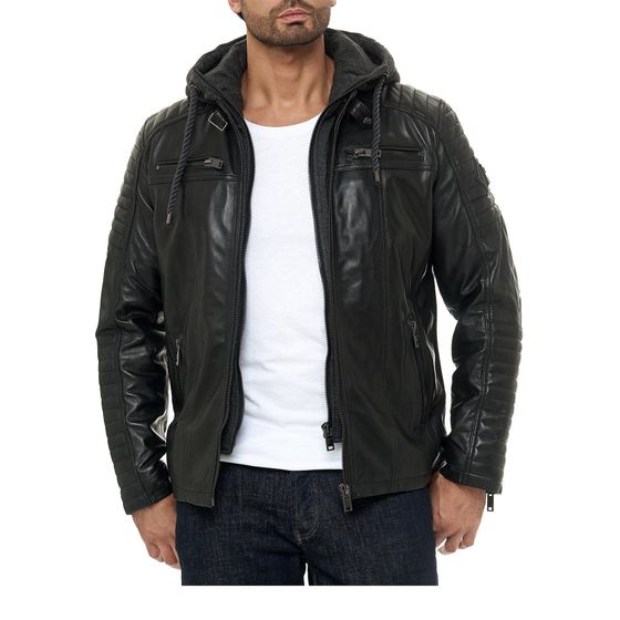 Red Bridge Mens Leather Jacket Genuine Leather Biker...