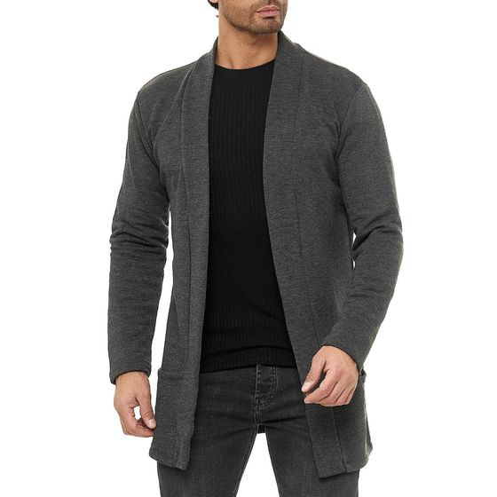 Red Bridge Herren Cardigan Jacke Sweat-Jacke Sakko Long Cut
