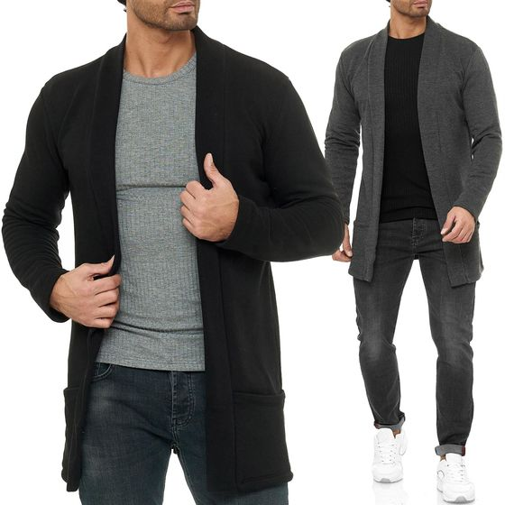 Red Bridge Mens Cardigan Jacket Sweat Jacket Blazer Long Cut