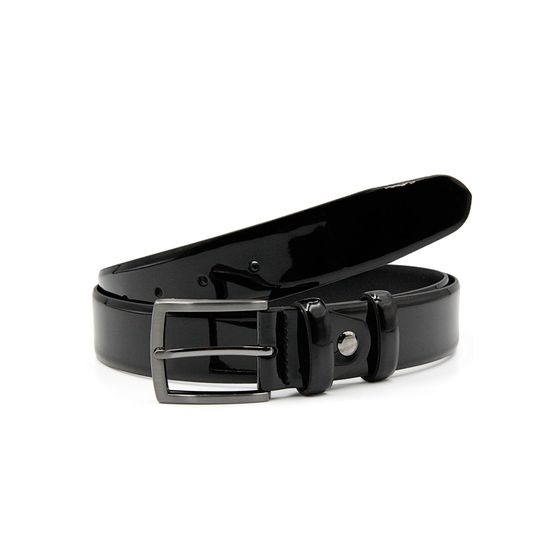 Red Bridge Mens Belt Leather Patent Leather Belt Leather...