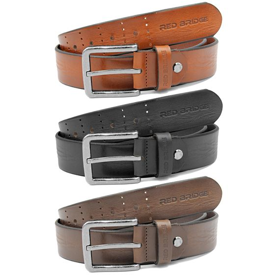 Red Bridge Mens Belts Real Leather Leather Belt Leather...