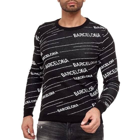 Red Bridge Herren Strickpullover Pullover Striped Barcelona