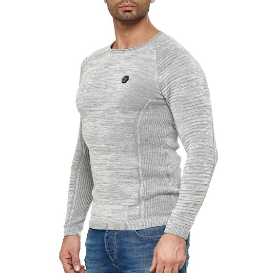 Red Bridge Mens Knit Sweater Slim-Fit Classic Structure