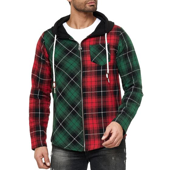 Red Bridge mens Pullover Sweat Jacket with hooded...