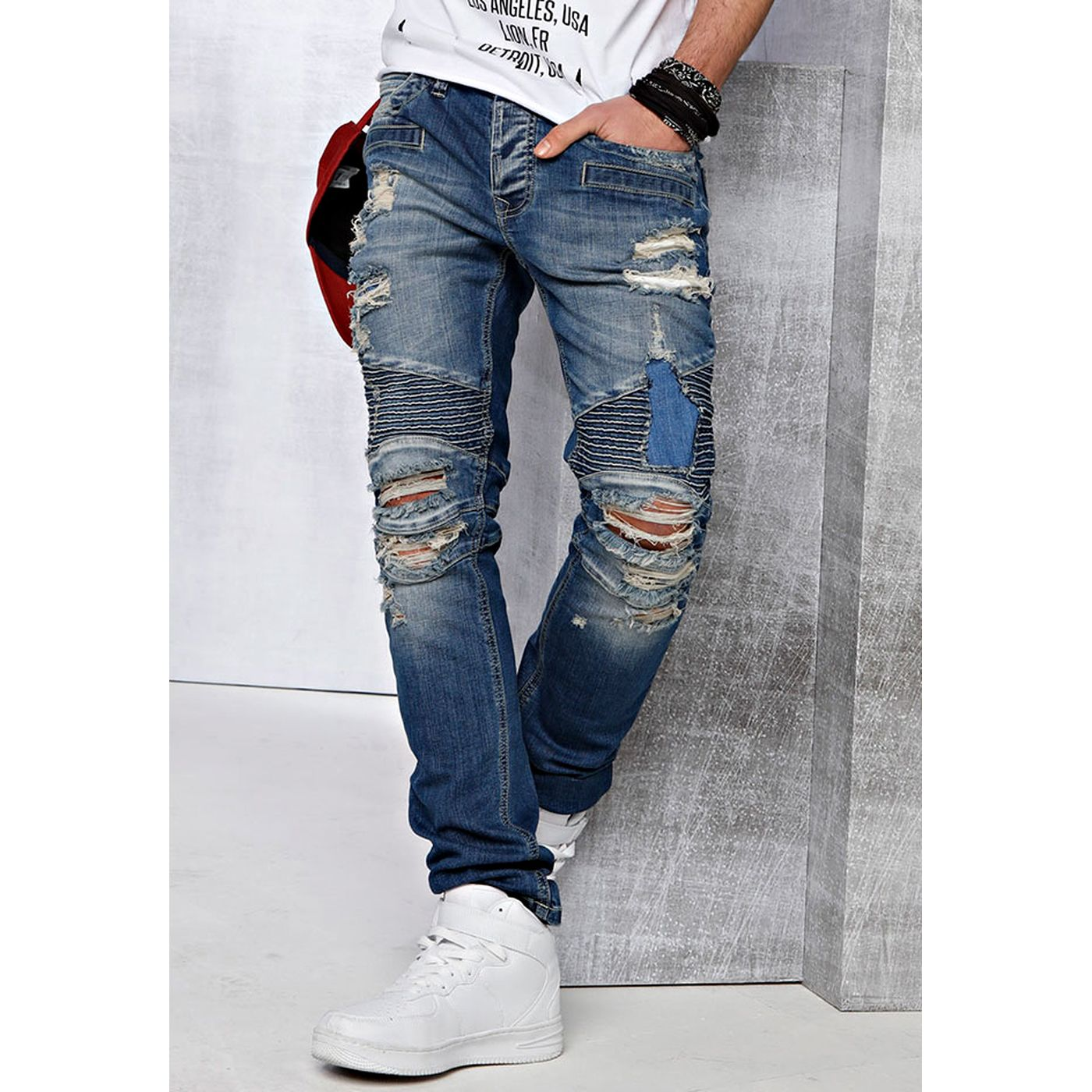 4541232f19 Red Bridge Herren Destroyed Biker Jeans M4056-standard - Redbridge ...