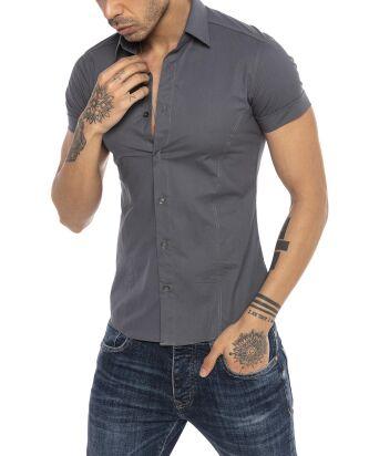 f7e42b4a52a7fa Redbridge Men Tough Side Shirt grey M5006-grey, 39,99 €