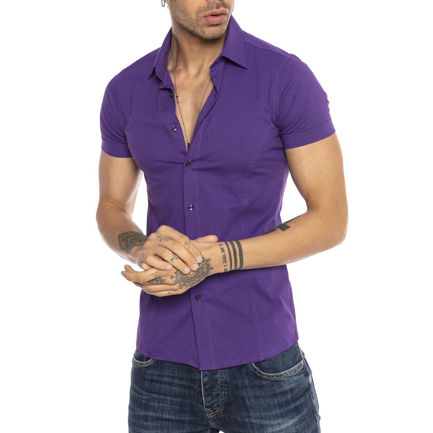 Slim Herren Violet Herren Herren Hemde Hemde Hemde Slim Slim