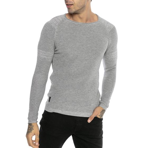 Red Bridge Mens Knitted Sweater Pullover Slim-Fit Superhero