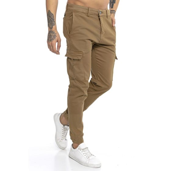Red Bridge Mens Cargo Pants Colored Jeans Twill Work-Flex