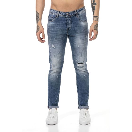 Red Bridge Herren Jeans Hose Denim Pants Faded Destroyed