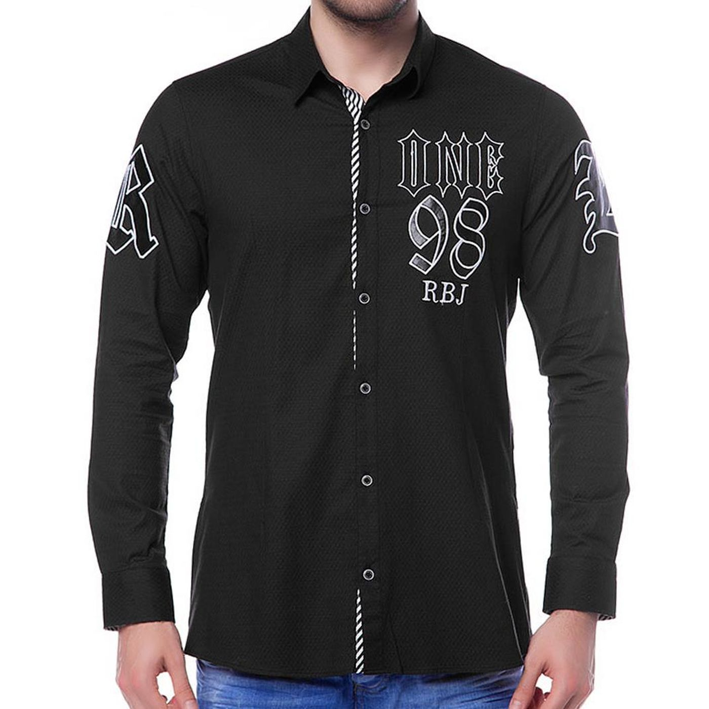 red bridge men rockabilly shirt black m5002 black 13 99. Black Bedroom Furniture Sets. Home Design Ideas
