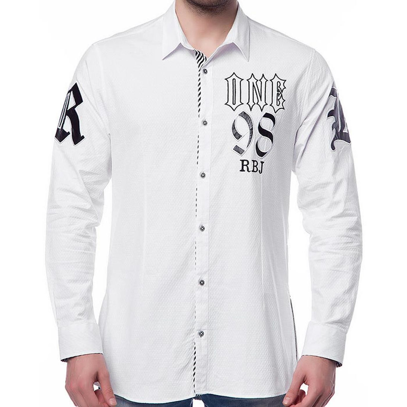 red bridge men rockabilly shirt white m5002 white 13 99. Black Bedroom Furniture Sets. Home Design Ideas