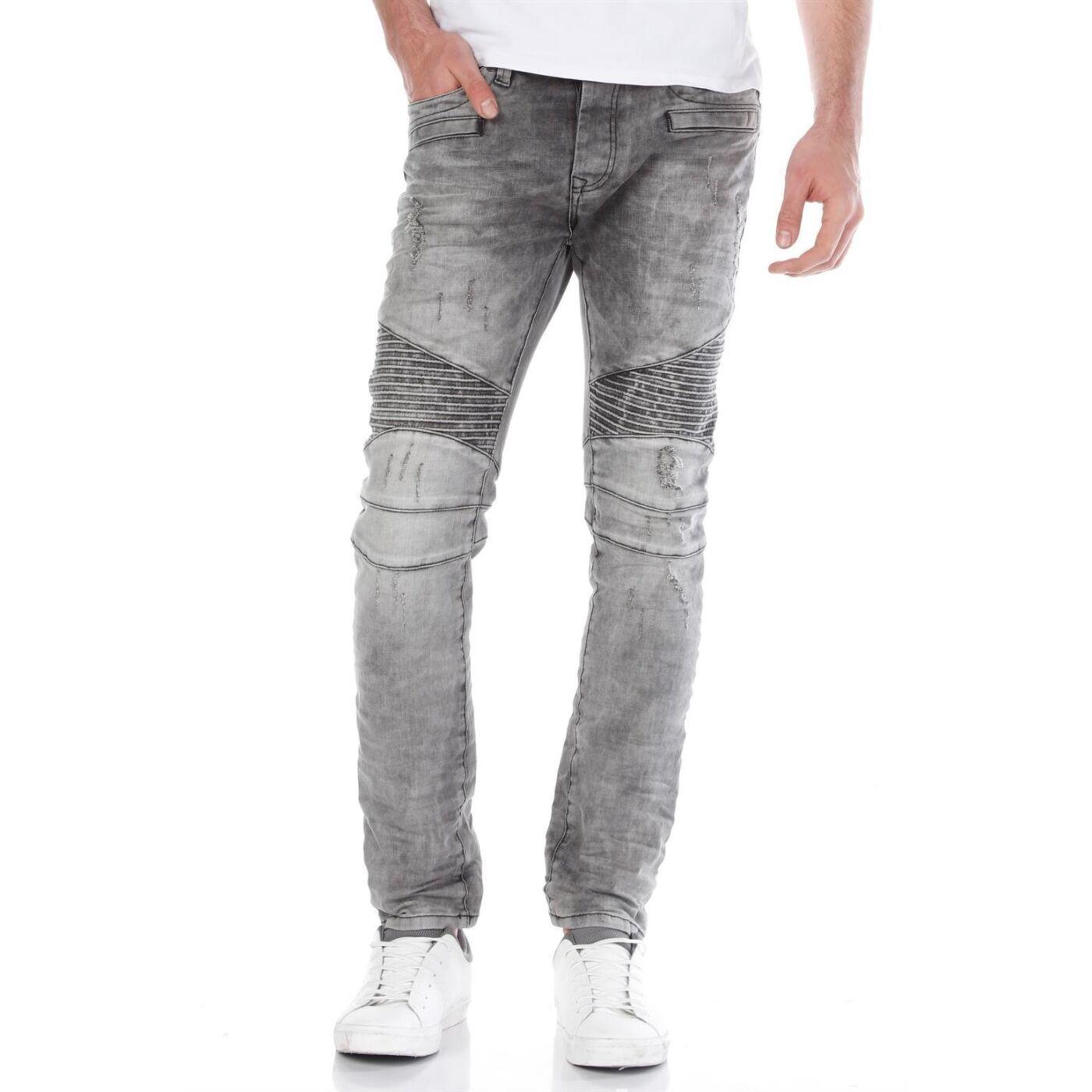 red bridge herren biker skinny jeans m4039 grey 49 99. Black Bedroom Furniture Sets. Home Design Ideas