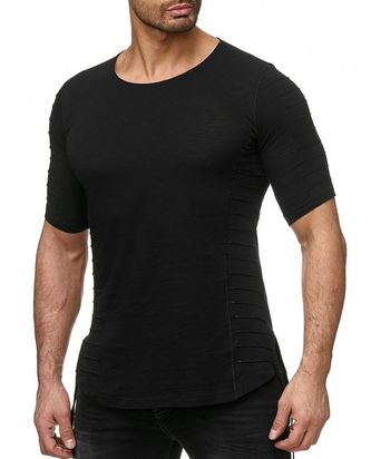 Red Bridge Herren Fluted Oversized T-Shirt schwarz