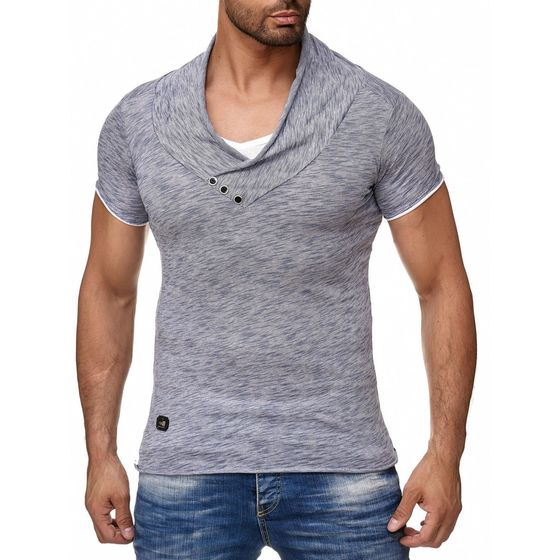 ... Red Bridge Herren Melange T-Shirt indigo ...