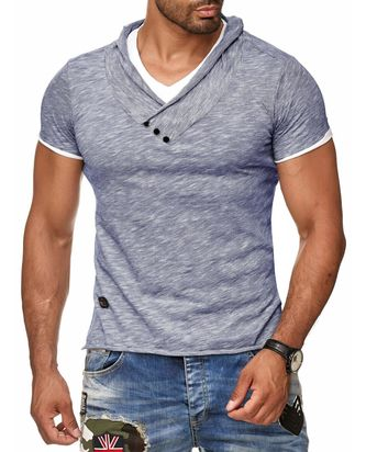Red Bridge Herren Melange T-Shirt indigo