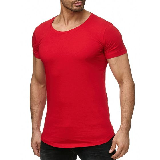 Red Bridge Herren Basic Oversized T-Shirt rot