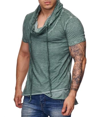 Red Bridge Herren Oversized Wide Collar Vintage T-Shirt...