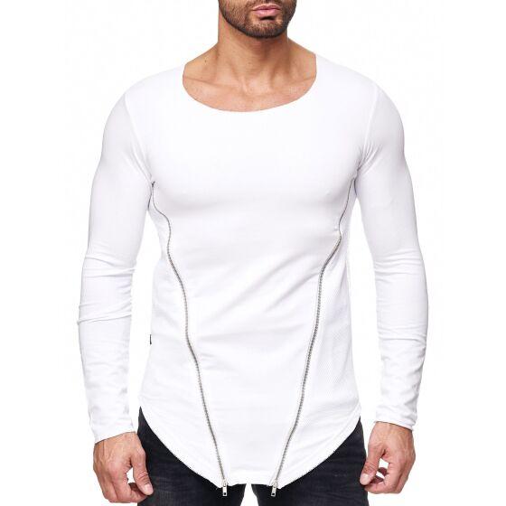 ... Red Bridge Herren Side Zipped Sweatshirt Pullover weiss ... 5e0f829f72