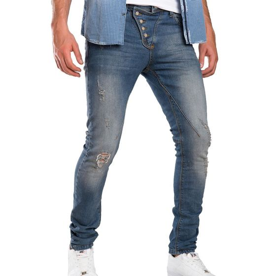 Red Bridge Herren Straight Cut Jeans Destroyed...