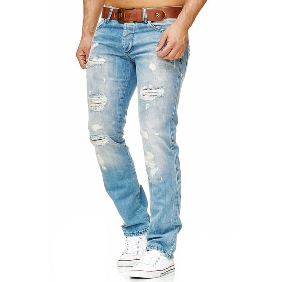 Red Bridge Herren ripped Straight Cut Jeans Röhrenjeans...