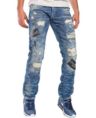 Red Bridge Herren Look Out ripped Jeans Gangster Cool...