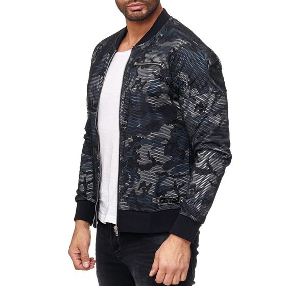 Red Bridge Herren Two Layers Camouflage Jacke Schwarz