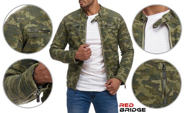 Redbridge Männer Bikerjacke Übergangsjacke neuer Style