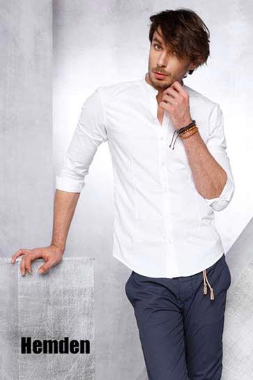 Slim Fit Basic Hemden oder mit Stickereien. Herren Hemden für jeden Anlass.